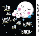 moon and cloud with slogan...