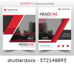 red triangle vector brochure... | Shutterstock .eps vector #572148895