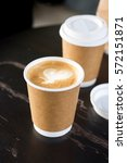 paper coffee cup with paper bag ... | Shutterstock . vector #572151871