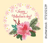 vector greeting card for... | Shutterstock .eps vector #572152129