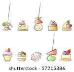 canapes   savoury and sweet... | Shutterstock . vector #57215386