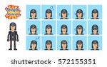 big set of medieval black... | Shutterstock .eps vector #572155351