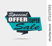super sale banner. discount... | Shutterstock .eps vector #572157055