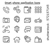 basic smart phone application... | Shutterstock .eps vector #572157145
