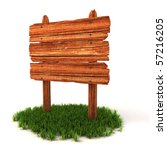old wooden billboard on the... | Shutterstock . vector #57216205