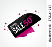 icon sale and special offer. 50 ... | Shutterstock .eps vector #572164114