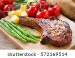 Pork Chop Serve With Vegetable...