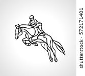 horse race. equestrian sport.... | Shutterstock .eps vector #572171401