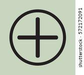 plus icon  positive symbol... | Shutterstock .eps vector #572172091