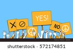people protest banner. isolated ... | Shutterstock .eps vector #572174851