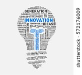 vector word cloud of innovation ... | Shutterstock .eps vector #572176009