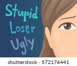 illustration of a teenage girl... | Shutterstock .eps vector #572176441