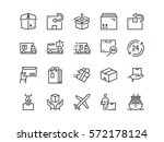 delivery. set of outline vector ... | Shutterstock .eps vector #572178124