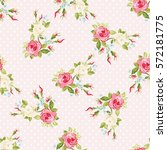 seamless floral pattern with... | Shutterstock .eps vector #572181775