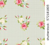 seamless floral pattern with... | Shutterstock .eps vector #572181805
