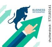 bullish  symbols on stock... | Shutterstock .eps vector #572183161