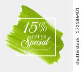 sale special offer 15  off sign ... | Shutterstock .eps vector #572186401