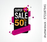 icon sale and special offer. 50 ... | Shutterstock .eps vector #572187541