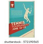 poster flyer in retro style... | Shutterstock .eps vector #572190565