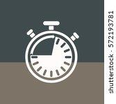 classic stopwatch   vector... | Shutterstock .eps vector #572193781