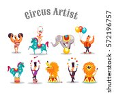 Circus Artists. Set Of Vector...