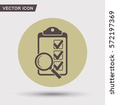 pictograph of checklist | Shutterstock .eps vector #572197369