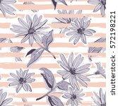 flower pattern seamless elegant ... | Shutterstock .eps vector #572198221