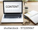 content publishing articles... | Shutterstock . vector #572205067