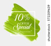 sale special offer 10  off sign ... | Shutterstock .eps vector #572209639