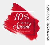 sale special offer 10  off sign ... | Shutterstock .eps vector #572209699