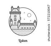 travel lisbon icon. belem tower ...   Shutterstock .eps vector #572210047