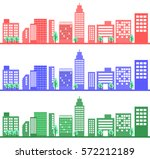 illustration of building group | Shutterstock .eps vector #572212189