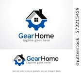 gear home technology logo... | Shutterstock .eps vector #572215429