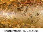 Gild Texture On Gold Buddha...