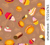 confection  bakery products.... | Shutterstock .eps vector #572216761