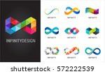 colorful abstract infinity ... | Shutterstock .eps vector #572222539