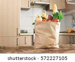 Paper Bag Full Of Healthy Food...