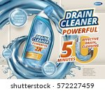 drain cleaner ads  dynamic... | Shutterstock .eps vector #572227459