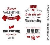 valentine's day labels  badges  ... | Shutterstock .eps vector #572233429