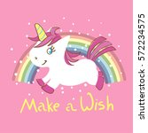 cute little unicorn with... | Shutterstock .eps vector #572234575