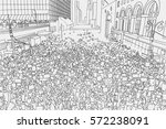 Illustration Of Massive Crowd...