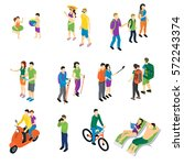 people isometric travel set... | Shutterstock .eps vector #572243374