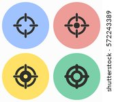 target vector icons set. black... | Shutterstock .eps vector #572243389