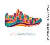 running marathon  people run ...   Shutterstock .eps vector #572244937