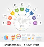 business timeline elements... | Shutterstock .eps vector #572244985