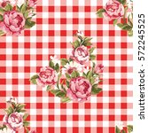 seamless floral pattern with... | Shutterstock .eps vector #572245525
