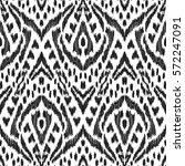 vector ikat seamless pattern.... | Shutterstock .eps vector #572247091