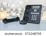 ip phone with photo shop icon...   Shutterstock . vector #572248705