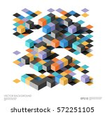 isometric abstract background... | Shutterstock .eps vector #572251105