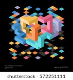 isometric abstract background... | Shutterstock .eps vector #572251111